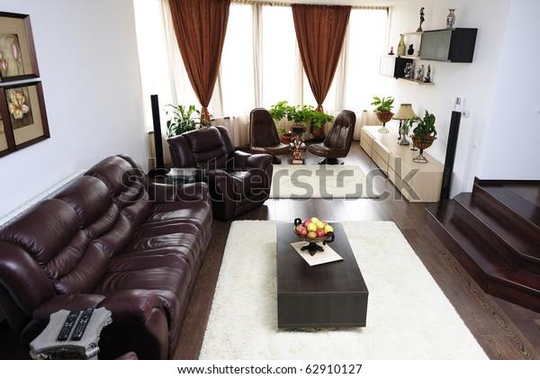 Ultramodern Livingroom Leather Sofa Armchairs Near Stock ...