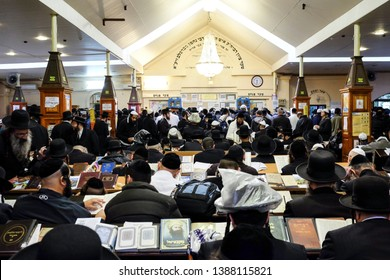 Ultra-Orthodox Jewish Hasids  pilgrims pray near the tomb of Rabbi Nachman of Breslov on the eve of Rosh Hashanah holiday, the Jewish New Year, in the town of Uman, Ukraine. September 2014