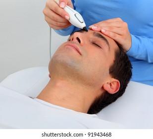 Ultrasonic hair removal in professional studio