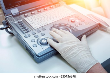 Ultrasound equipment. Diagnostics. Sonography.
