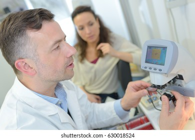 ultrasound machine doctors hand usg investigation