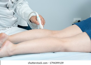 Ultrasound of vein in clinic