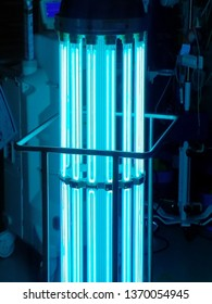 Ultraviolet C lighting is used to sterilize and decontaminate an operating room.