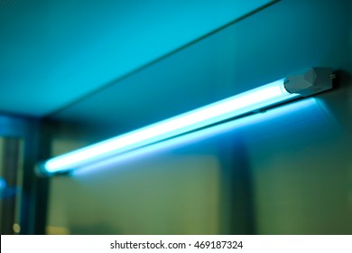 Ultraviolet, UV lamp for sterilizing surfaces and air in laboratory.