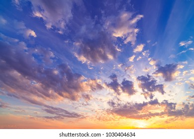 Ultra-wide angle shot of a picturesque sky scenery