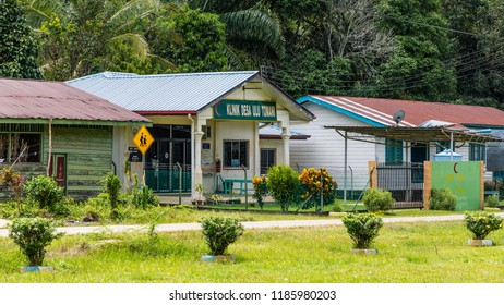 Ulu Tomani, Sabah, Malaysia - February 25 2018: Village Clinic (malay: Klinik Desa) of Ulu Tomani, typical for the countryside medical care in Sabah
