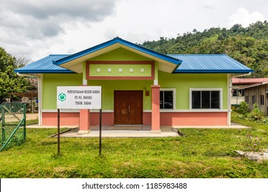 Ulu Tomani, Sabah, Malaysia - February 25 2018: Village library of Kg Bakuku, a branch of Sabah State Library (malay: Perpustakaan Negeri Sabah)