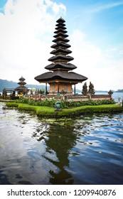 Ulun Danu Beratan beautiful temple in Bali, Indonesia