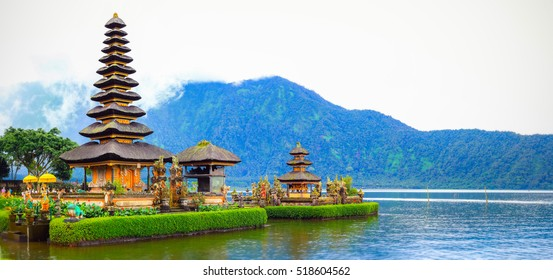 Ulun Danu Beratan Temple, Bali : one of the most beautiful temples in Bali and iconic image of the island.