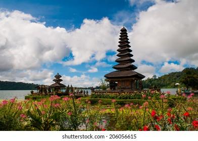 Ulun Danu temple in Bali island, Indonesia