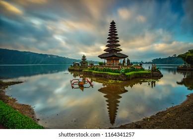 Ulun Danu Temple, Lake Beratan, Bali, Indonesia