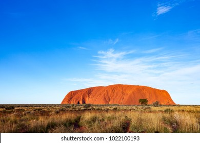 Uluru (formerly Ayer's Rock) is a. is a large sandstone rock formation located in Uluru-Kata Tjuta National Park, Northern Territory, Australia. Photographed: May 30th, 2013.