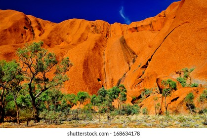ULURU KATA TJUTA NATIONAL PARK, NORTHERN TERRITORY/AUSTRALIA � APRIL 13:  Uluru is the most well known Australian land mark. This place is also very important Aboriginal sacred site.