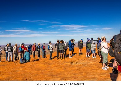 Uluru, NT, Australia. 21st Sep 19. Crowds flock to climb Uluru prior to the Australian goverment's ban commencing on the 26th October 2019.