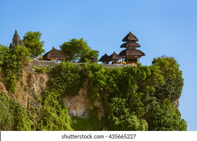 Uluwatu temple in Bali Indonesia - nature and architecture background
