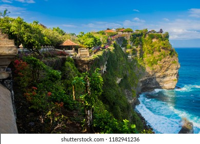 Uluwatu Temple (Pura Luhur Uluwatu) is a Balinese Hindu sea temple located in Uluwatu. It is renowned for its magnificent location, perched on top of a cliff.