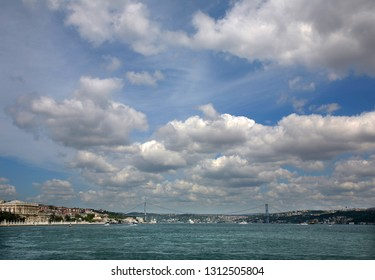 uly 15 Martyrs Bridge (Bosphorus Bridge) in Istanbul, Turkey.