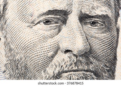 Ulysses Grant a close-up portrait on US fifty dollars
