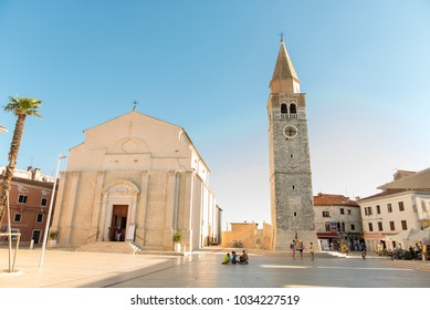 Umag, Croatia - August 15,2017: umag city center on August 15, 2017 in Croatia. It is populat holidy destination in Summer