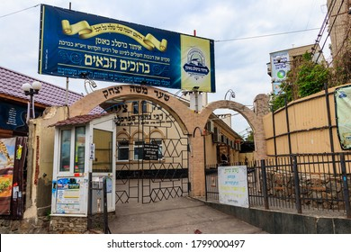 Uman, Ukraine - May 19, 2020: Rabbi Nachman's grave in Uman. The holy tombstone of Reb Nachman of Breslov