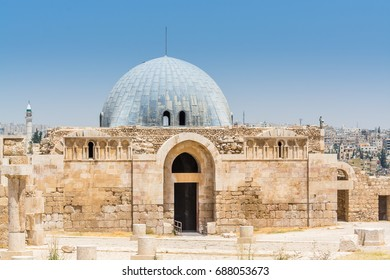 Umayyad Palace in the Amman Citadel, a historical site at the center of downtown Amman, Jordan. Known in Arabic as Jabal al-Qal'a, one of the seven jabals(mountains) that originally made up Amman