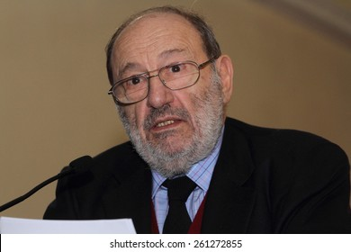 Umberto Eco honored with the St. Thomas in Roccasecca March 14, 2015