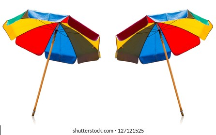 an umbrella color with white background