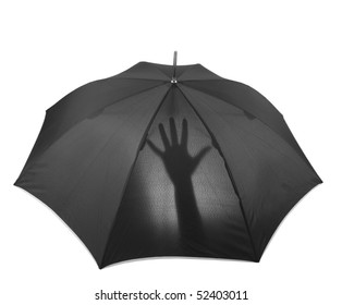 umbrella with hand silhouette