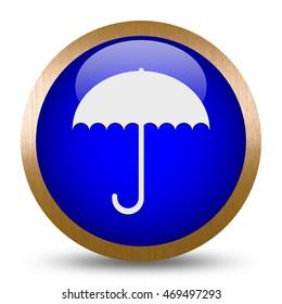 Umbrella icon. Internet button .3d illustration.