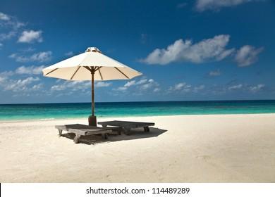 Umbrella on the beach.