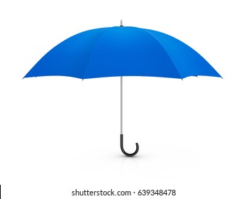 Umbrella on a white background. 3D illustration.