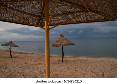 umbrella from rotonge on the beach. Travel and tourism are perfect in any season