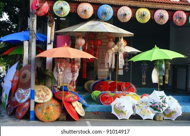 umbrella shop, Chiang Mai ,Thailand