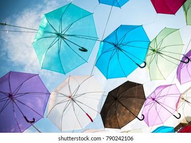 Umbrella in sky