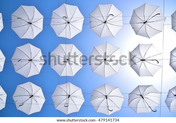 Umbrella in the sky