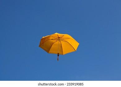 Umbrella in the sky  horizontal