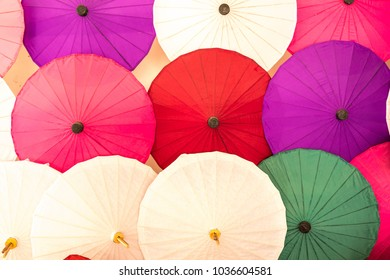 Umbrellas background, handmade in Chiang Mai, Thailand.