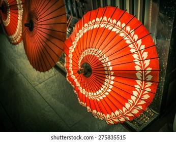 umbrellas in Gion, Kyoto