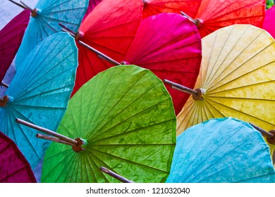 Umbrellas, handmade in Chiang Mai, Thailand.