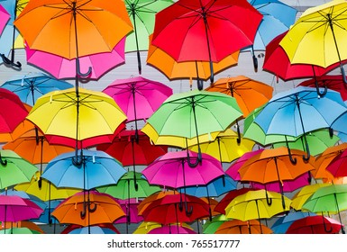 umbrellas with many colours