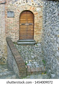 UMBRIA, MONTONE – SEPTEMBER 19, 2006: pro loco association site. The association place is in a medieval building.