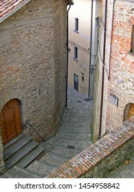 UMBRIA, MONTONE – SEPTEMBER 19, 2006: pro loco association site label in a village street. The association place is in a medieval building.