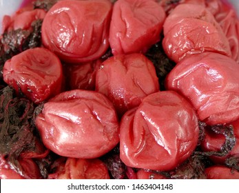 "Umeboshi are fermented ume fruits common in Japan. The word ""umeboshi"" is often translated into English as ""salted Japanese plums"", ""Japanese plum"" or ""preserved plums"""