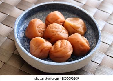 Umeboshi-japanese traditional pickled ume