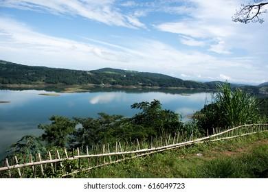 The Umiam lake of Meghalaya, India.