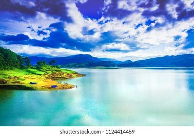 Umiam, Summer shot, Meghalaya, India