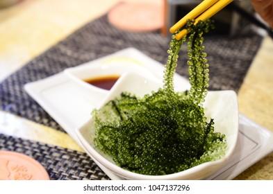 Umi-budou, grapes seaweed or green caviar