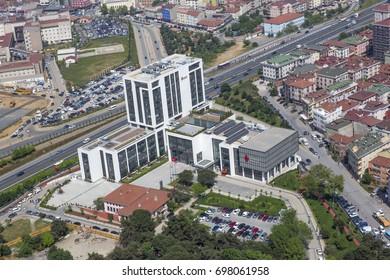 Umraniye, Istanbul, Turkey - May 03, 2013; Istanbul Umraniye New Municipal Building.Turkey