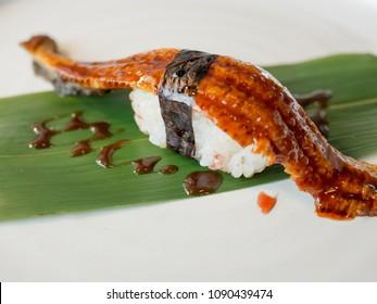 Unagi (???)  Sushi especially the Japanese eel