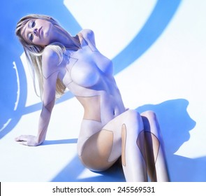 Unbelievable beauty and sexy Cyborg girl
